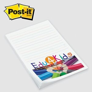 "Custom Printed Post-it® Notes (4""x6"") 50 Sheets/ 4 Color"